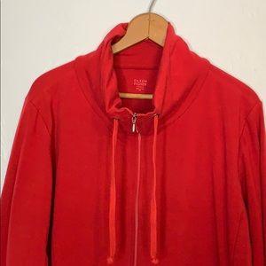 Eileen Fisher funnel neck zip